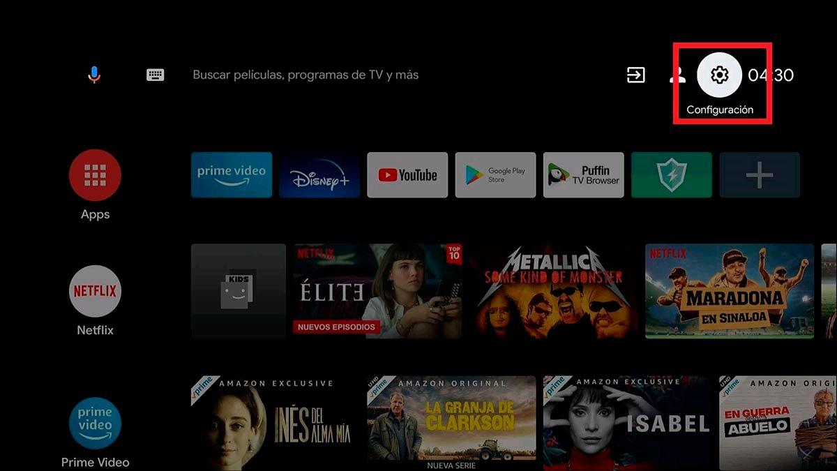 Configuracion Smart TV Android TV
