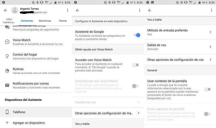 Configurando Asistente de Google en Android