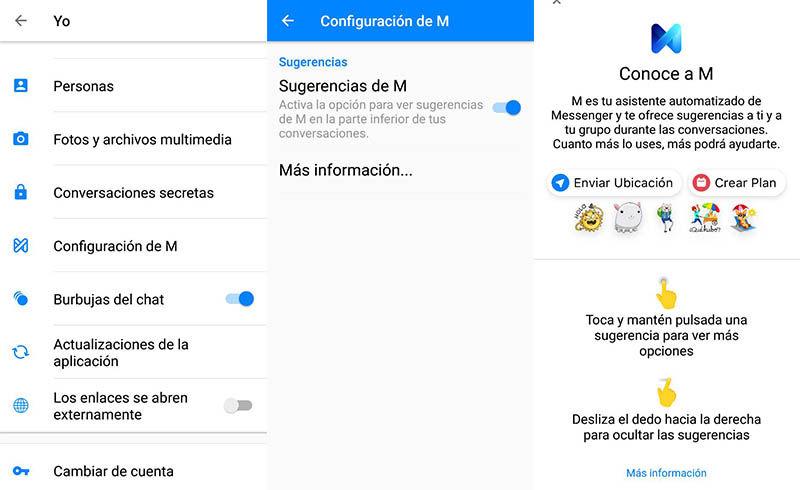 Configurar Facebook M en Android