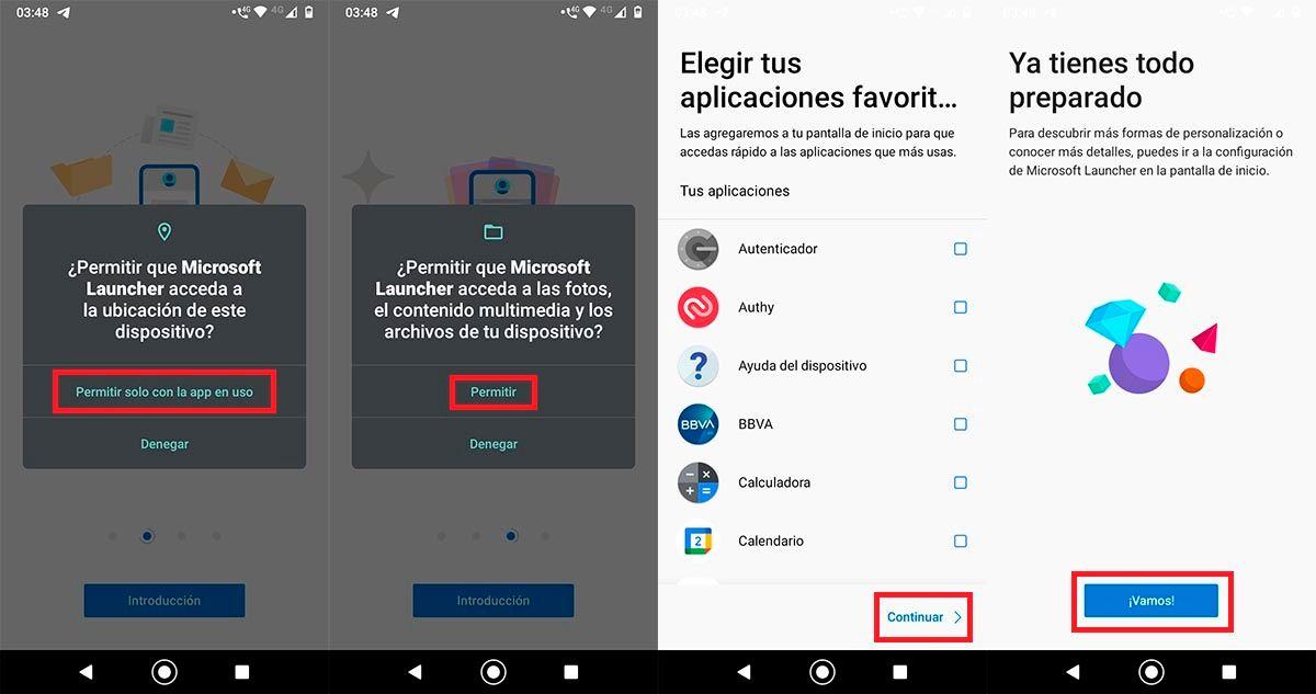 Configurar Microsoft Launcher Android Go