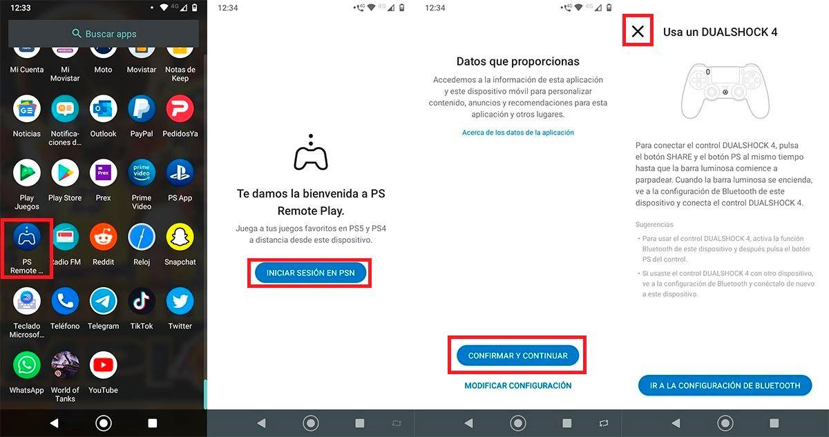 Configurar Remote Play en Android PS5