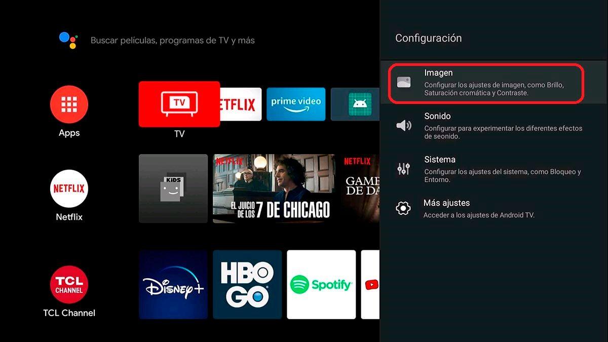 Configurar imagen Android TV