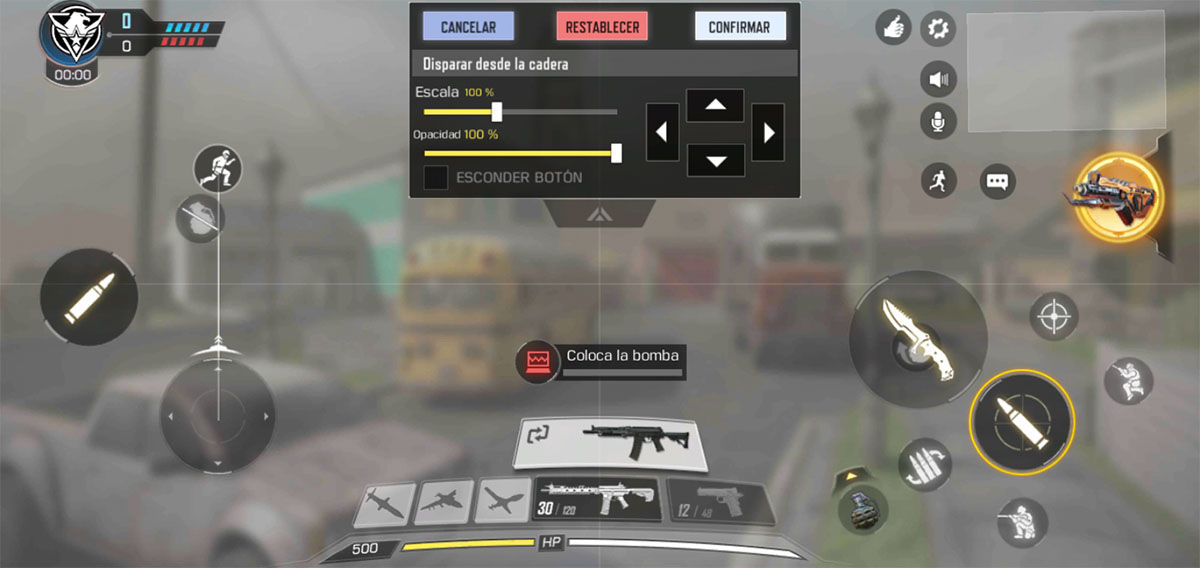 Configurar mando Call of Duty Mobile