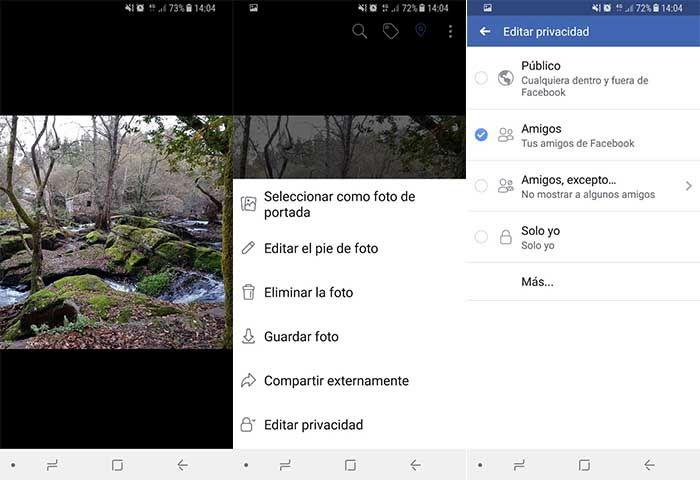 Configurar privacidad fotos Facebook