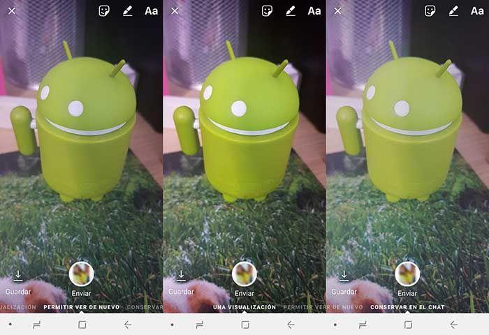 Configurar privacidad fotos enviadas Instagram Direct