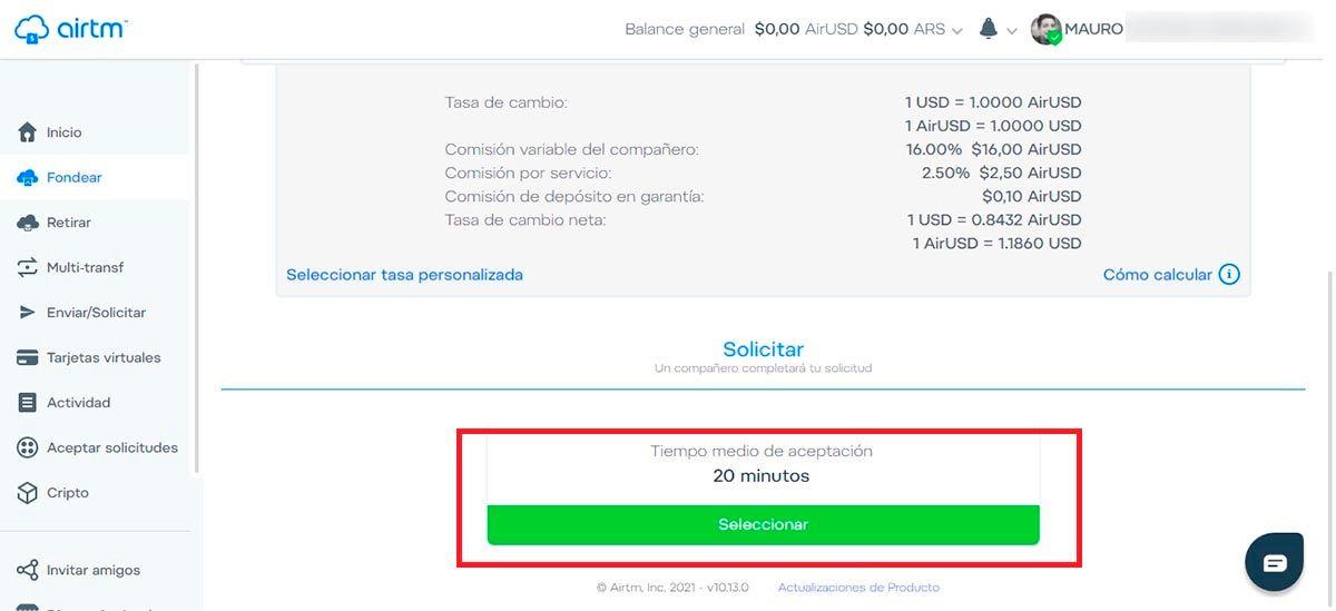Confirmar fondeo de PayPal en Airtm