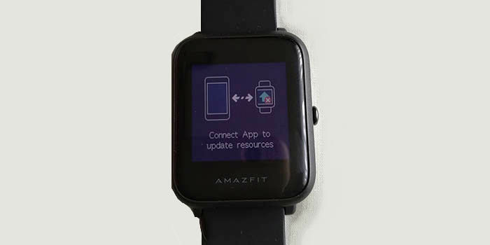 Connect app to update resources Amazfit Bip