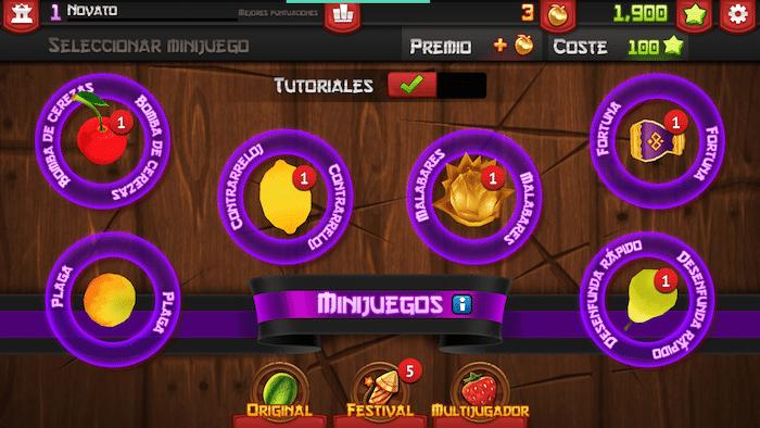 Conseguir manzanas doradas en Fruit Ninja minijuegos