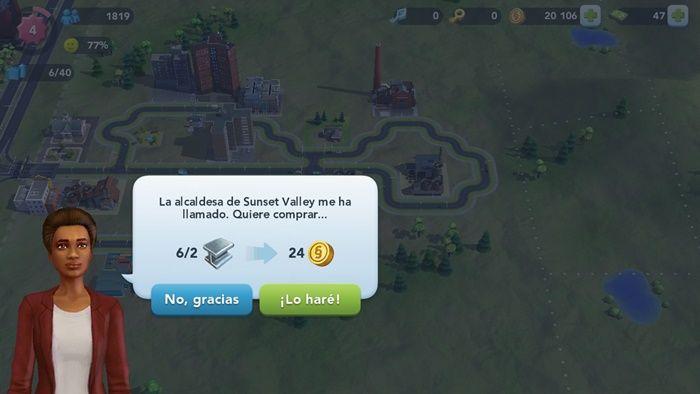 Conseguir mejores ventas en Sim City BuildIt