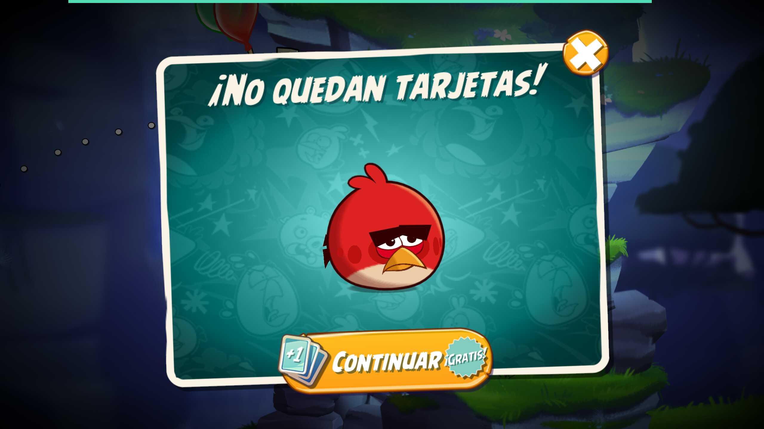 Conseguir tarjetas extra en Angry Birds 2 gratis