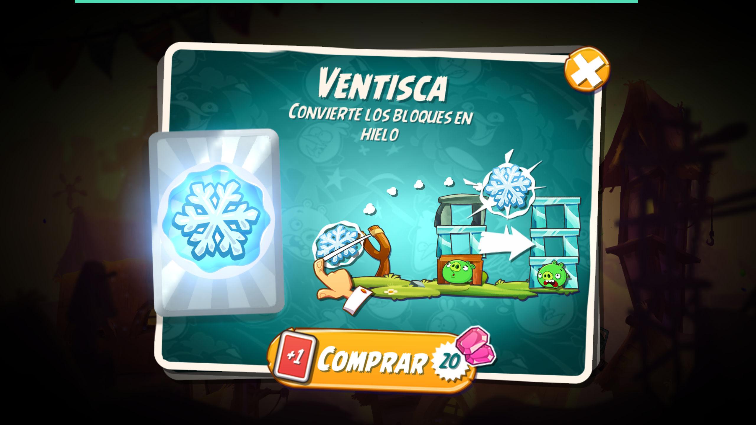 Conseguir tarjetas extra en Angry Birds 2 precio