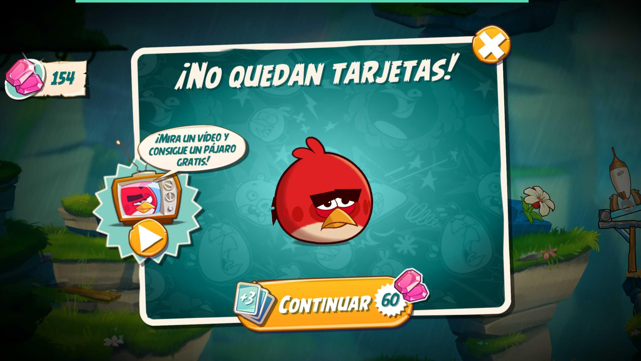 Conseguir tarjetas extra en Angry Birds 2