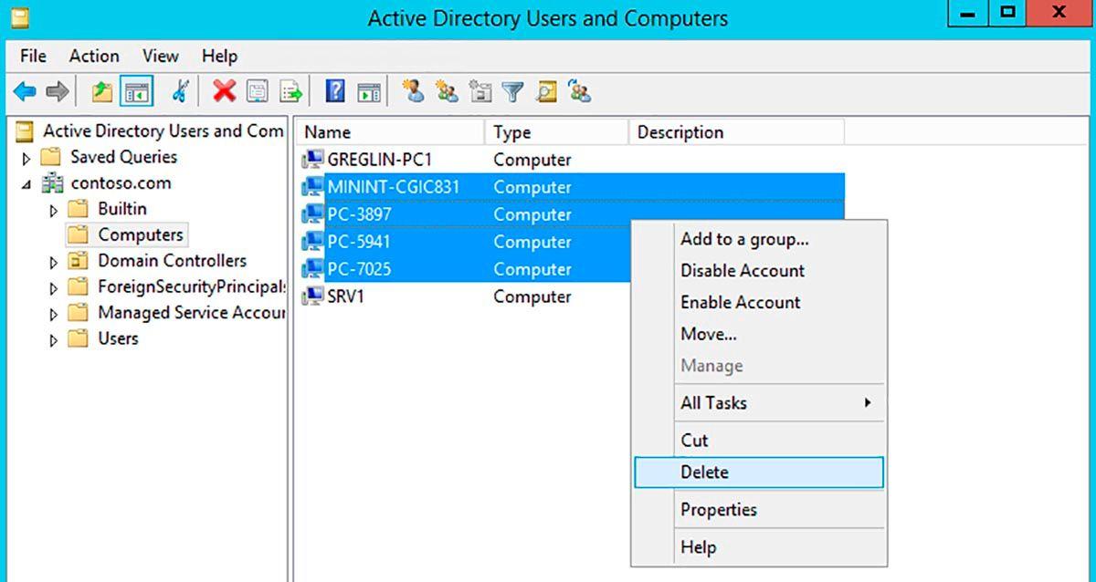 Consola active directory