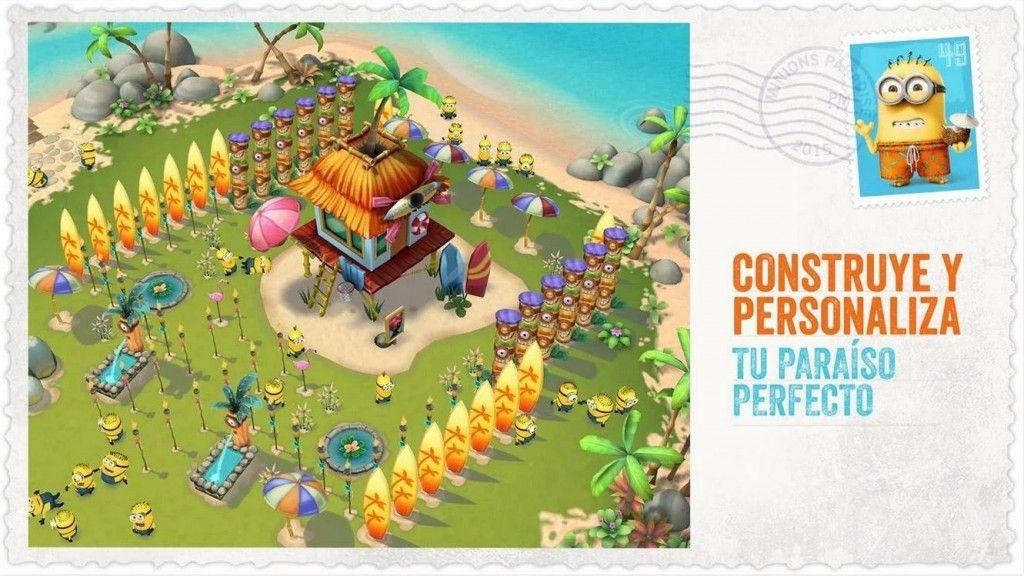 Construye el paríso en Minions Paradise