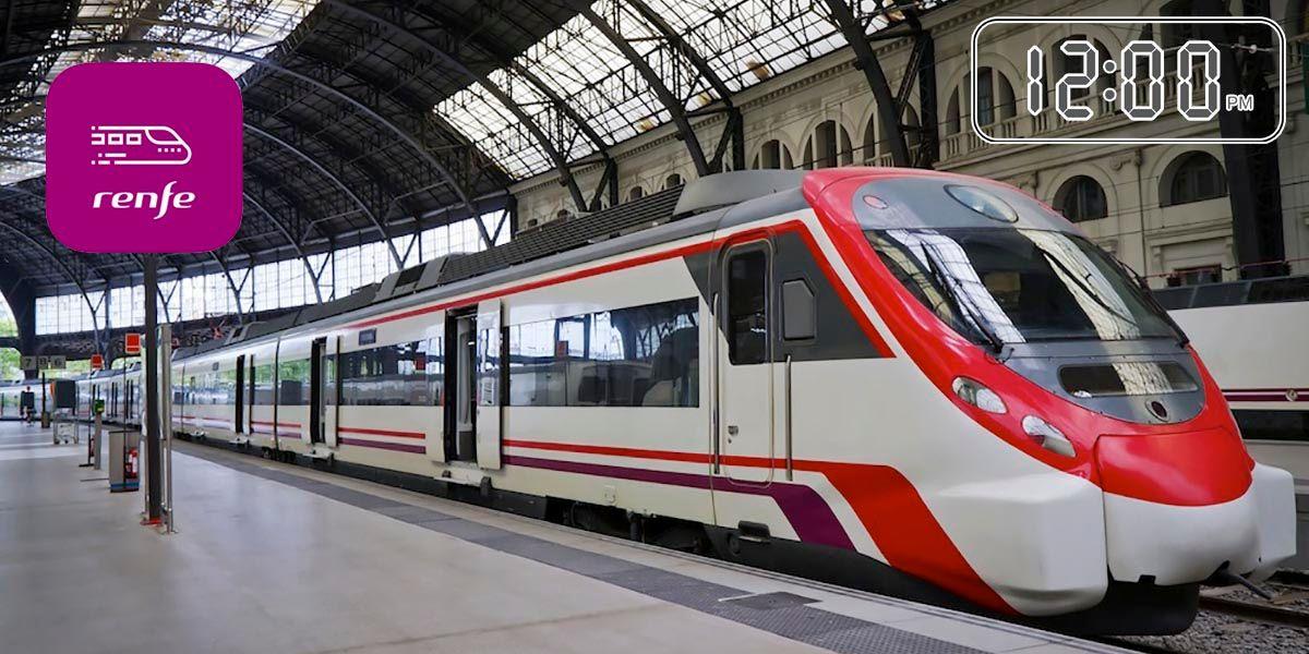 Consultar horarios trenes app Renfe