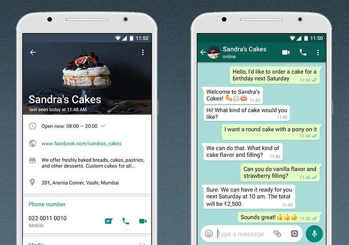 Contactos WhatsApp Business