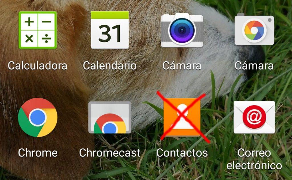 Contactos se ha detenido Galaxy S5
