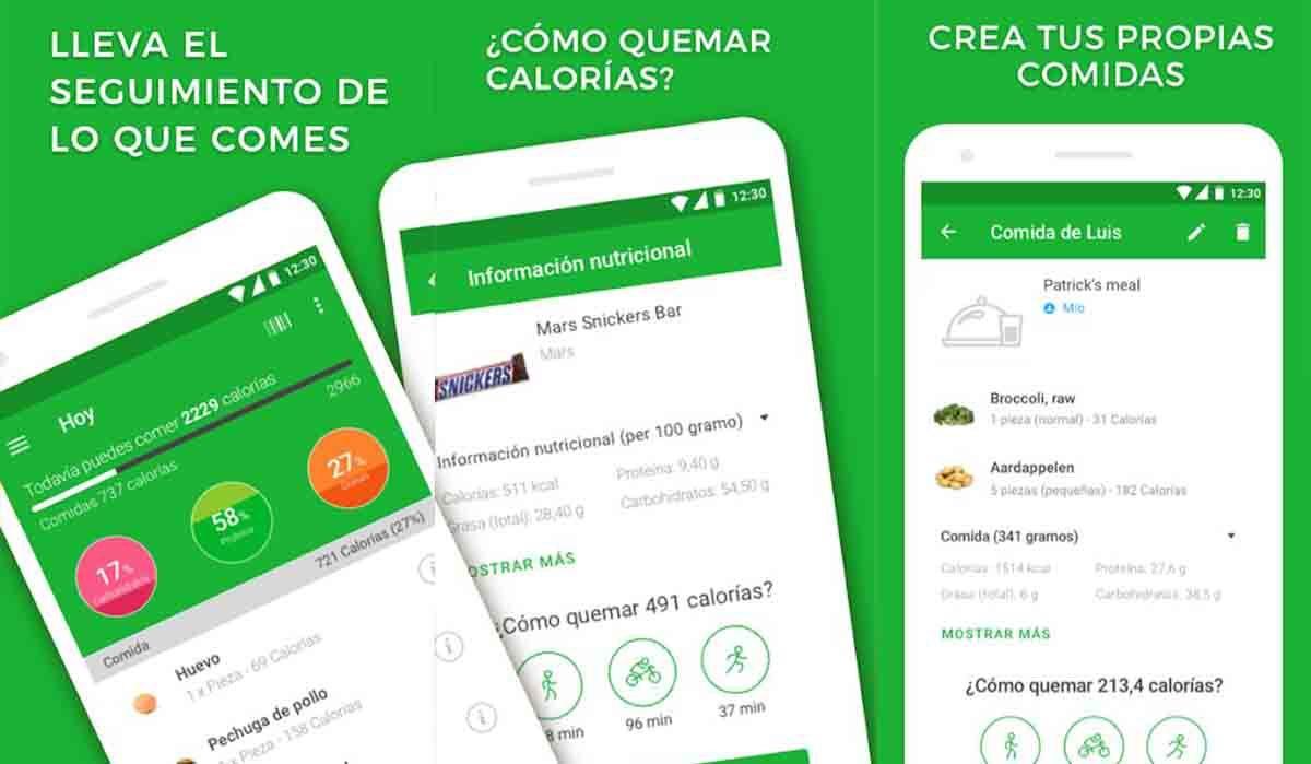 Contador calorías app Android