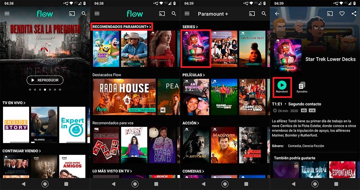 Contratar Paramount Plus gratis app Flow