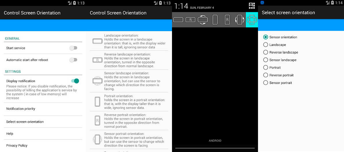 Control Screen Orientation para Android