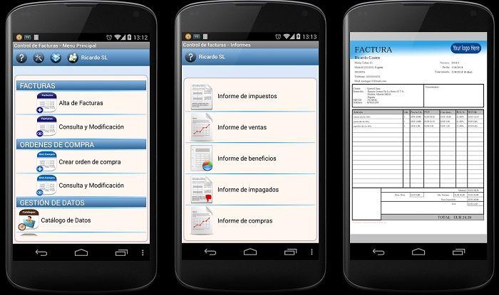 Control de Facturas app