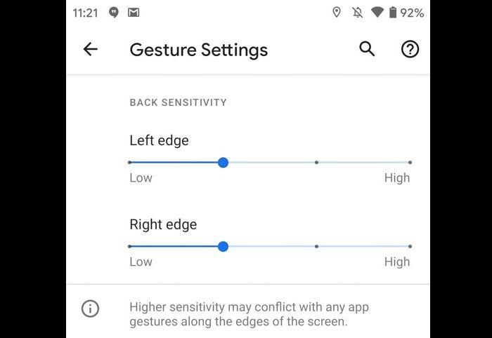 Controles de navegacion por gestos