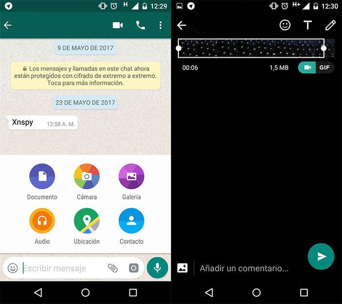 Convertir un GIF en WhatsApp
