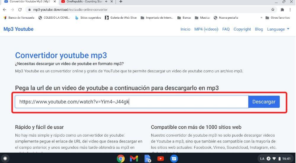 Convertir vídeos a música mp3