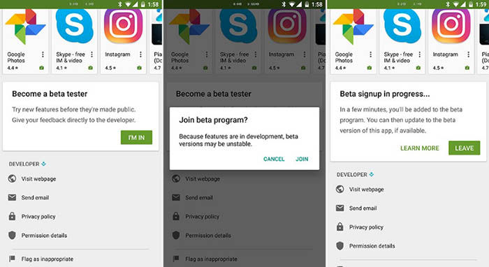 Convertirse en beta tester desde Google Play