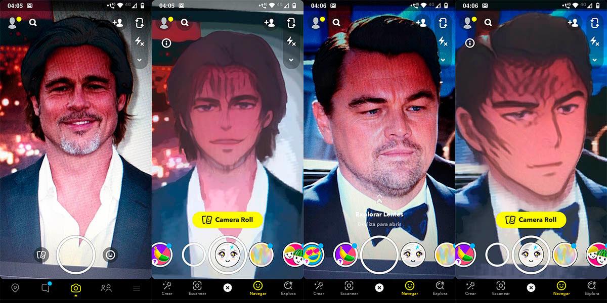 Conviertete en un personaje de anime filtro de Snapchat