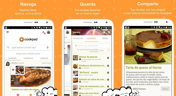 Coodpak app recetas
