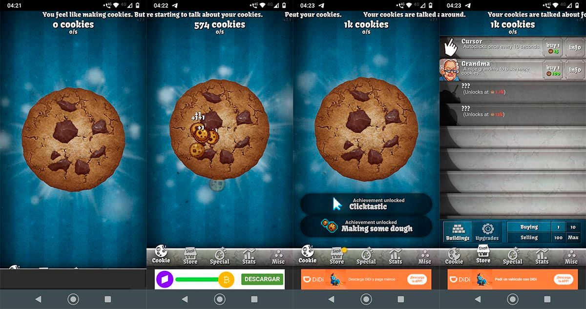 Cookie Clicker para Android