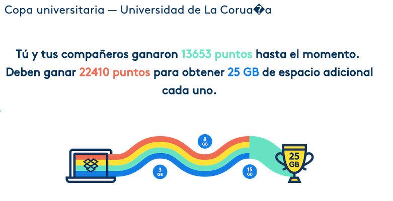 Copa Universitaria de Dropbox para conseguir 25 GB gratis