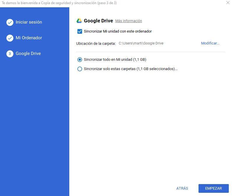 Elegir copias de los Documentos de Google