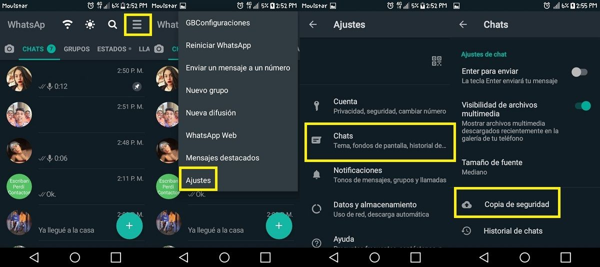 Copia seguridad WhatsApp Plus