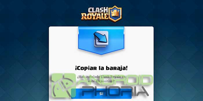 Copiar baraja Clash Royale