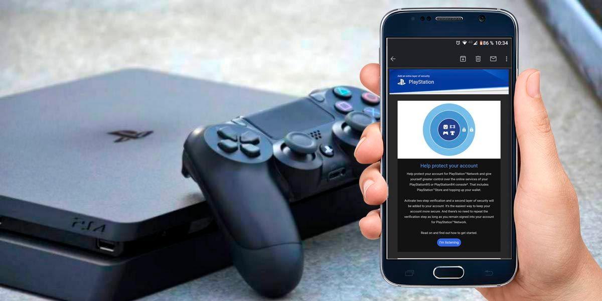 Correo falso verificacion de dos pasos PlayStation