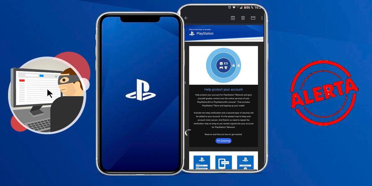 Correo verificacion de 2 pasos de PlayStation es falso