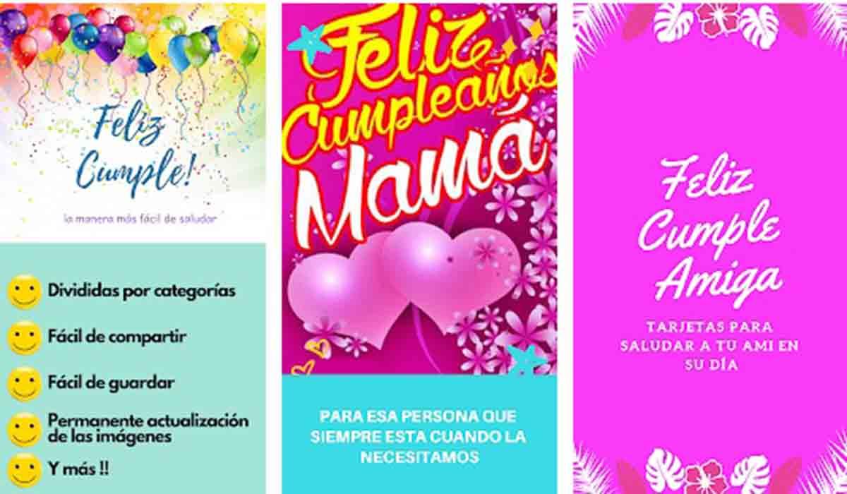 Crea tarjetas imprimibles con Feliz Cumpleaños