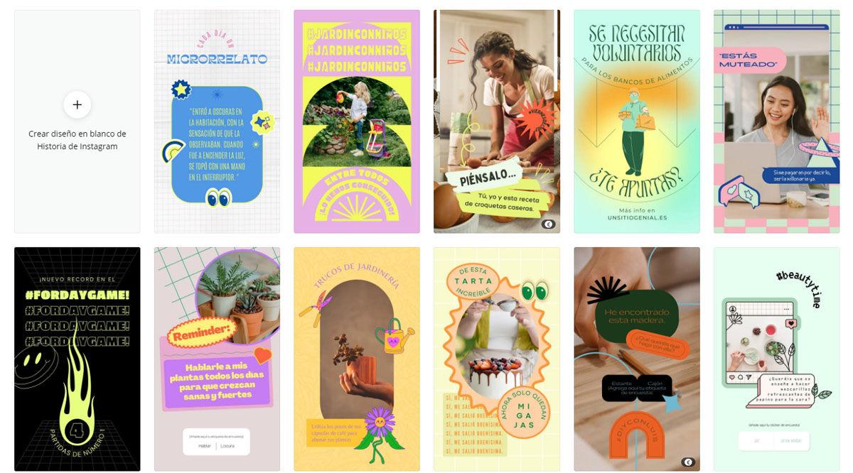 Crea y edita tus propias stories de Instagram a partir de las plantillas gratuitas de Canva