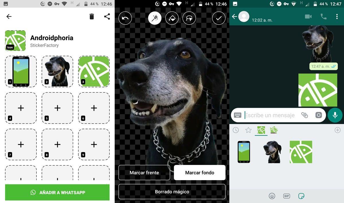Creador de stickers para WhatsApp aplicación