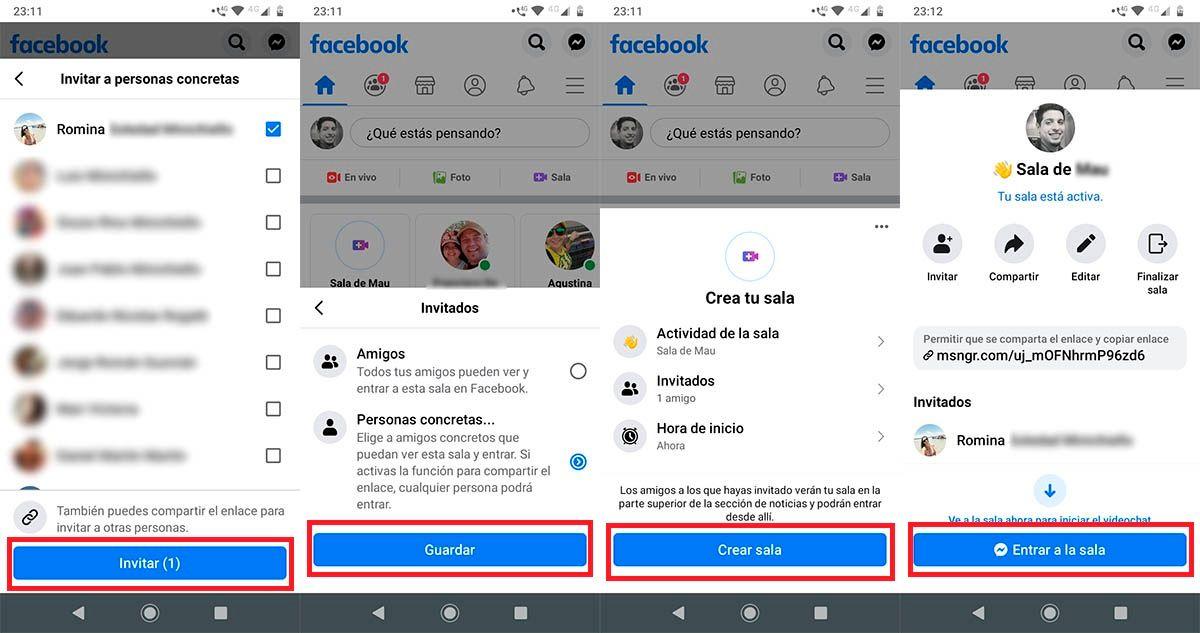 Crear Sala Messenger Facebook