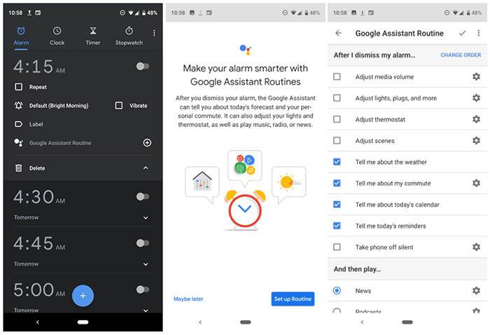 Crear alarmas inteligentes Android