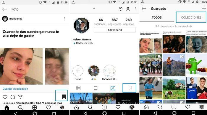 Crear colecciones Instagram captura A