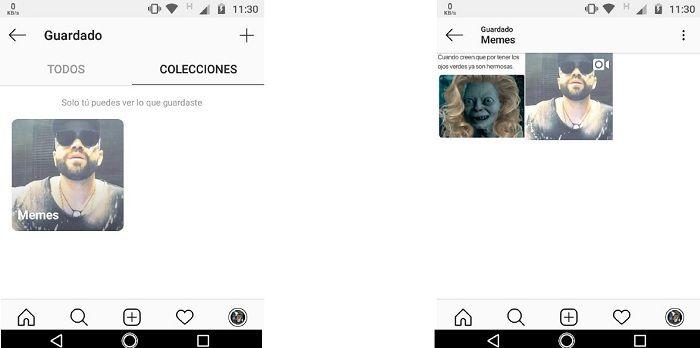 Crear colecciones Instagram captura B