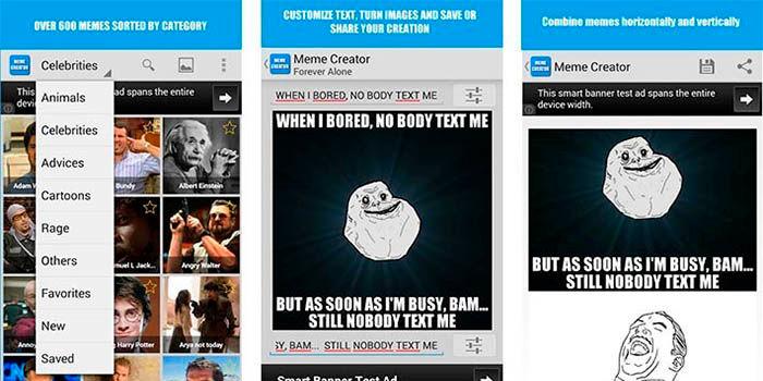 Crear memes con fotos en Android