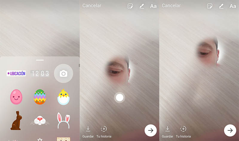 Crear sticker selfie instagram