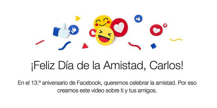 Crear video dia amistad Facebook