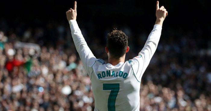 Cristiano Ronaldo en el campo