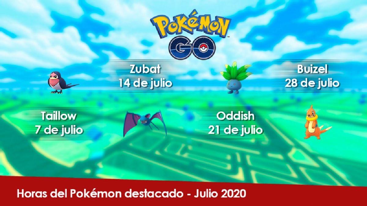 Cuales son los pokemon destacados en julio